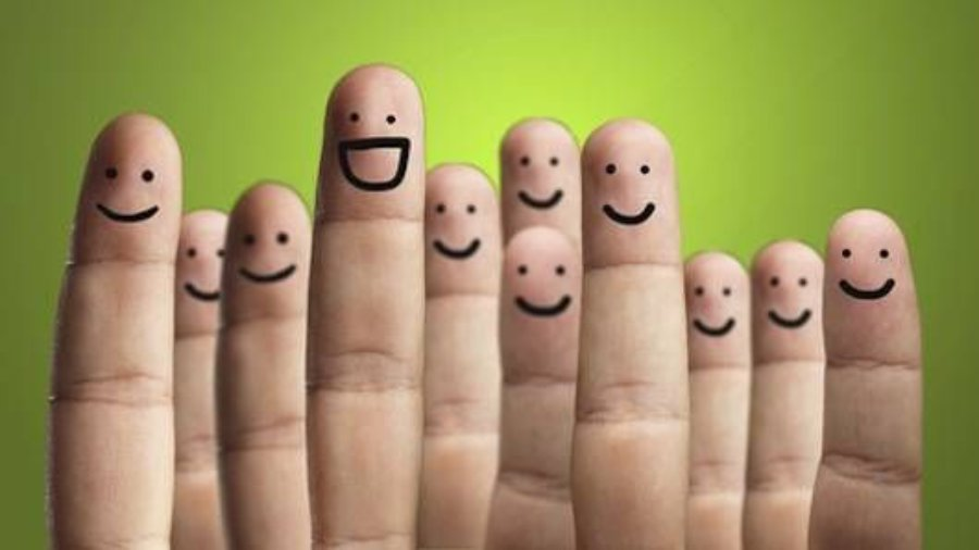 Fingers with smiles